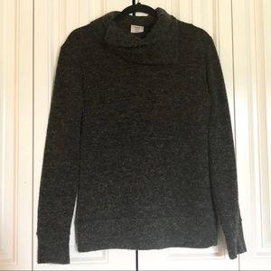 Kavu gray sweater asymmetrical collar size medium